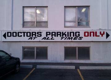 Doctors Parking Only at all times